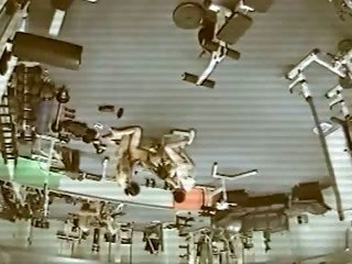 Security online cam in gym captured smutty MMF gangbang concede new instructor